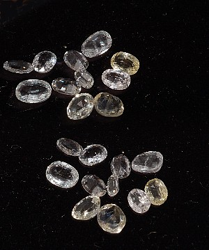 6.54CTS Parcels White Sapphire Oval-10pc