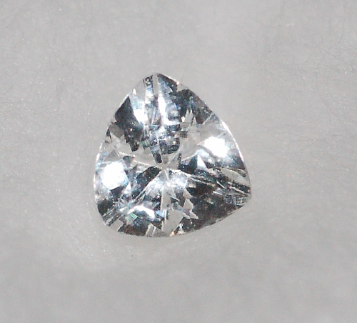 3 mm,Colorless White Sapphire-Trillion