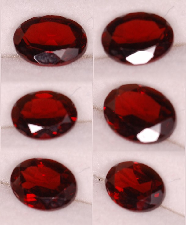 8x6mm, Almandine Garnet-Red-Oval