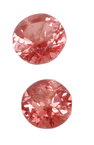 4 mm, Pink Shiller Sunstone-round