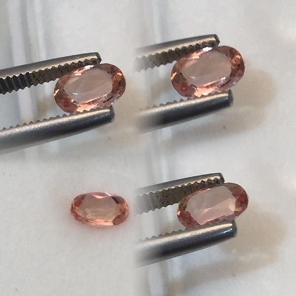 5.75x4mm, Imperial Peach Topaz-oval