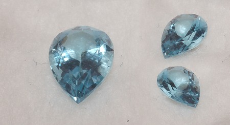 9x6mm, Sky Blue Topaz-pear