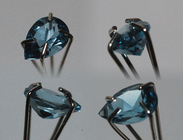 8x6mm, London Blue Topaz-Pear Shaped