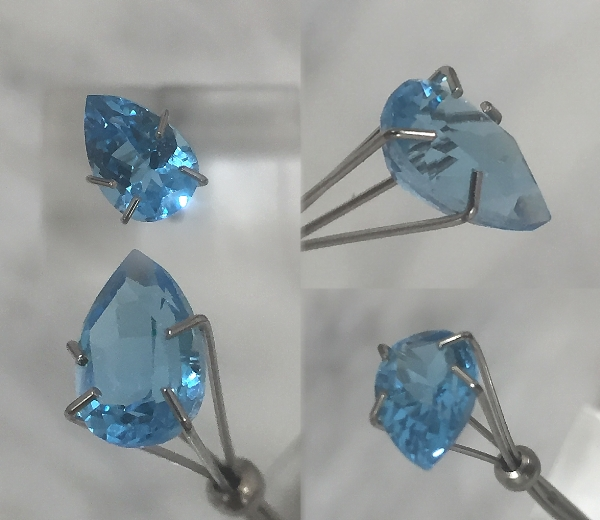 9x6mm, London Blue Topaz-pear